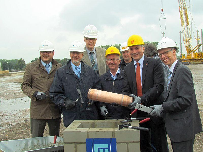 Erste Grundsteinlegung im Logistikpark A 2.