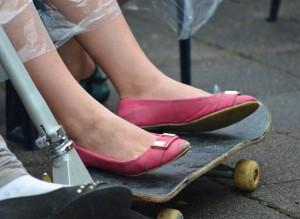 Unkonventionell waren auch die Besucher - mancher kam mit dem Skateboard spontan vorbei.
