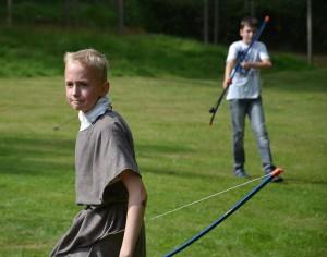 Römische Bogenschützen im Einsatz.