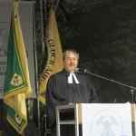 Pfarrer Reinhard Chudaska beim Bergmannsgottesdienst.