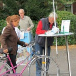 Streckenkontrolle der 2. Radkult(o)ur auf dem Museumsplatz in Oberaden.