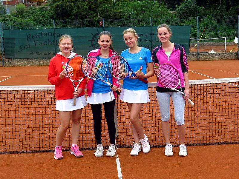 Das erfolgreiche Tennisteam des Städtischen Gymnasiums Bergkamen.