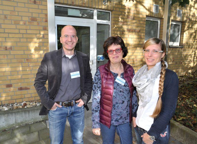 Thomas Wichert, Ursula Oertel und Isabelle Maßmann (r.) von der BKK Essanelle freuen sich darauf, ihre Kunden in der neuen Geschäftsstelle zu begrüßen.