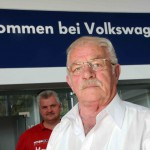 Rudi Hampel entdeckten Brand und alarmierte die Feuerwehr.