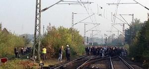 Über 400 Reisende wurden aus der Eurobahn evakuiert.