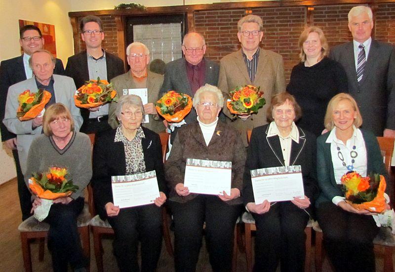 Der CDU-Stadtverband ehrte am Mittwochabend seine treuen Mitglieder.