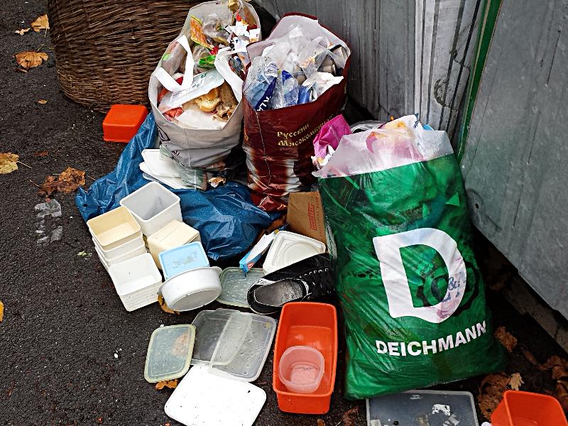 Ein aktuelles Foto vom Containerstandort an der Pfalzschule.