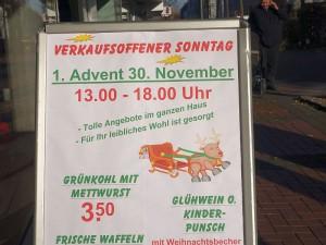 2014 gab es noch einen verkaufsoffenen Sonntag am 1. Advent. Ab 2015 wird er dann am 3. Advent in Bergkamen stattfinden.