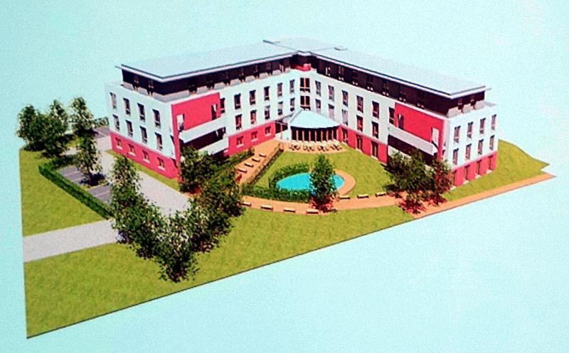 So könnte das neue Pflegeheim an der Landwehrstraße aussehen.