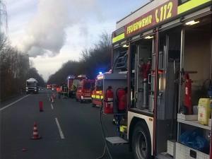 Großeinsatz der Feuerwehr auf dem Westenhellwegs wegen eines Gefahrgut-Kanisters. Foto: Feuerwehr