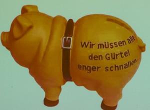 """Das Sparschwein: Das """"Maskottchen"""" für das neue Jahr."""