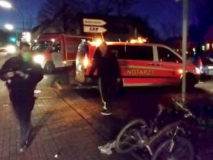 Ein Radfahrer verletzte sich bei einem Unfall am Mittwochmorgen an der Bambergstraße schwer.