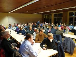 Das Interesse an der Info-Veranstaltung der SPD-Fraktion zur Zukunft der GSW-Bäder am Mittwochabend im Treffpunkt war groß.