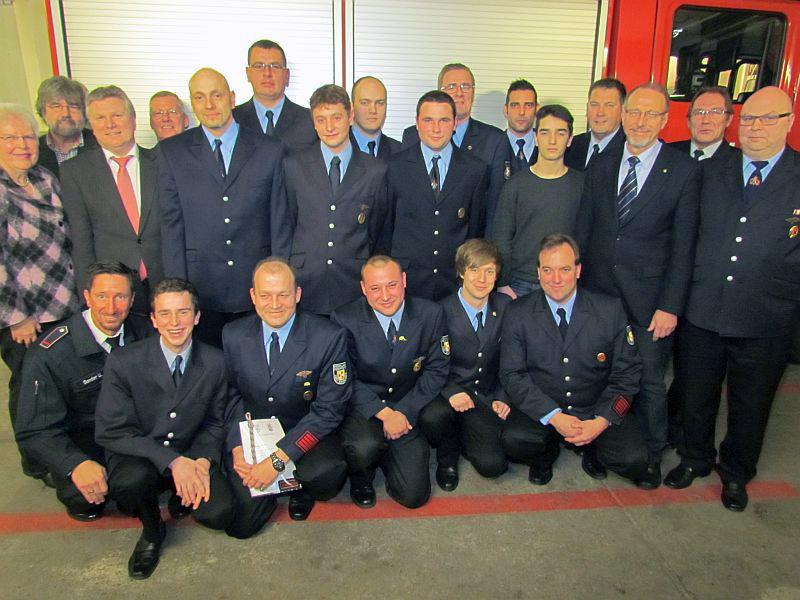 Zahlreiche Beförderungen standen auf dem Programm der Jahresdienstbesprechung der Löschgruppe Oberaden.