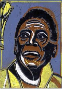 Portraits von Pelé mehrfarbig radiert v