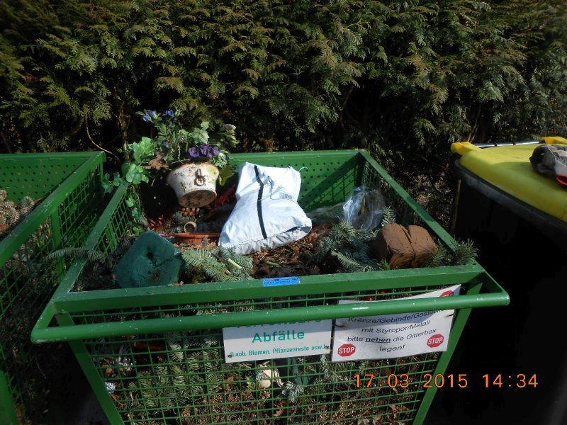 Abfall Friedhöfe Bio