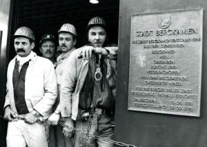 Besetzung des Bergkamener Rathauses während der Bergarbeiterproteste in den 1990er Jahren