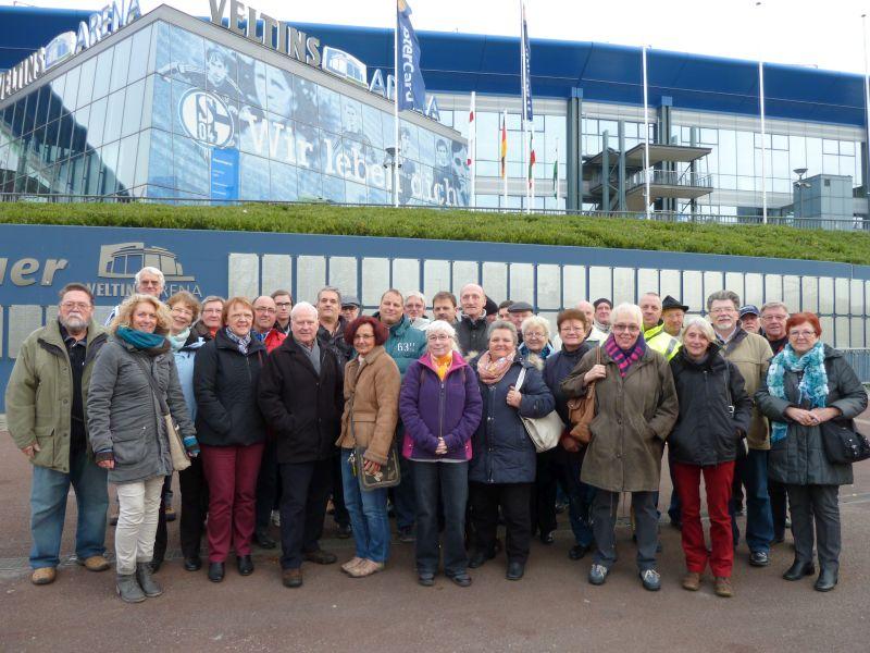 2014 besuchten die Ehrenamtskarten-Inhaber die Schalke-Arena.