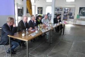 """Podiumsdiskussion zum Thema """"regenerative Energien""""."""