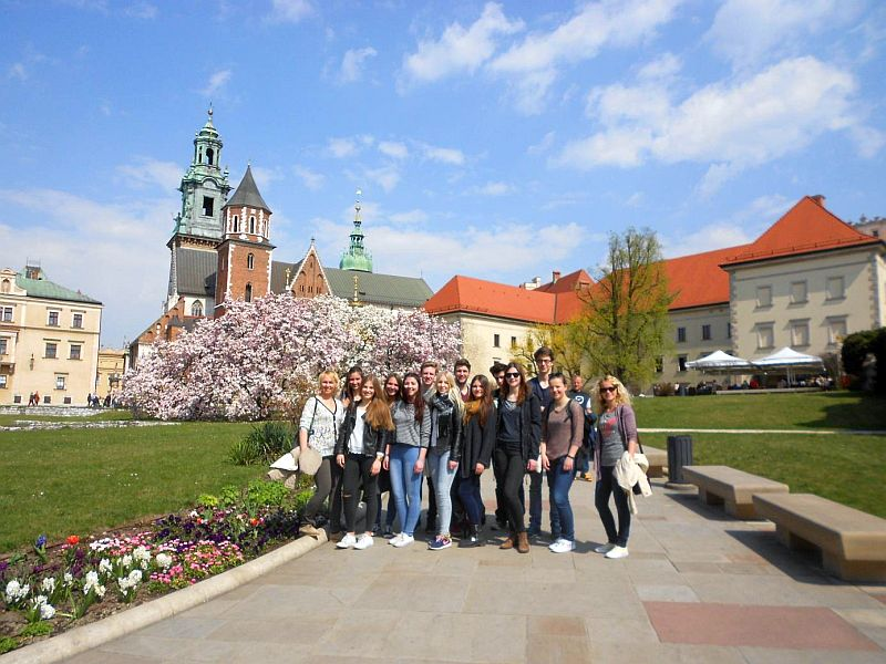 Die Schüler des Gymnasiums haben auch die Stadt Krakow erkundet.