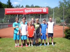 Jungen und Mädchen U 12: Florian Brandt, Justus Heustädter, Corinna Sudhaus, Ben Langhorst, Saskia Driesner, Fynn Eudenbach, Mica Witthüser, Florian Brosch