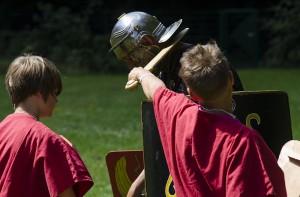 Will gelernt sein: Die richtige römische Kampftechnik wird geübt.