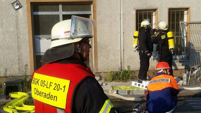 Feuerwehrübung in Oberaden am 3.7.15
