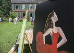 Eindrucksvolle Einblicke boten auch die Maler unter freiem Himmel.