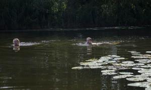 Idylle pur: Schwimmen im von der Natur regulierten Wasser.