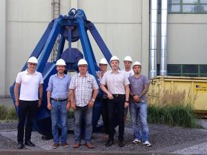 Eine Delegation des Vorstands der AfA Bergkamen besichtigte die Müllverbrennungsanlage in Hamm.