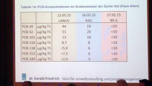 Die Ergebnisse aktueller PCB-Messungen des Grubenwasser von Haus Aden sind laut Harald Friedrichs besorgniserregend.