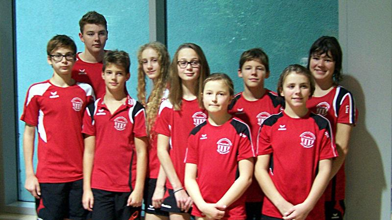 Die erfolgreichen Schwimmerinnen und  Schwimmer der TuRa Wasserfreunde.