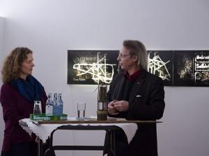 Nikola Dicke und Michael Staab im Künstlergespräch.