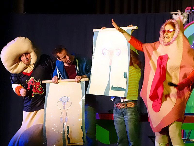 """""""Theaterspiel"""" aus Witten gastiert am Montag mit dem Stück """"Liebe, Love and the Sexperts"""" am Bergkamener Gymnasium."""