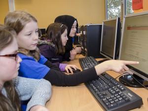 Gemeinsam lernen am PC war gefragt.