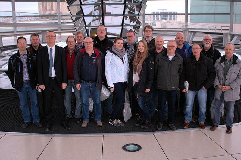 Mitglieder der Bergkamener Feuerwehr erkundeten das politische Berlin.