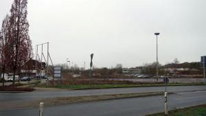 Hier soll das neue Gesundheitshaus gebaut werden: auf dem ehemaligen Parkplatz von Grimberg 3/4.