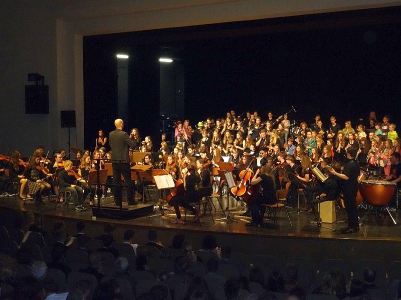 Beide Orchester (B-Orchester des SGB und JAG-Youngsters) unter der Leitung von Heiner Jaspers.