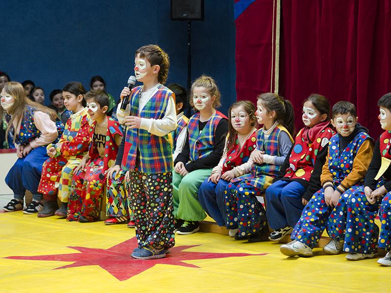 Die Clowns bei ihrem großem Auftritt.