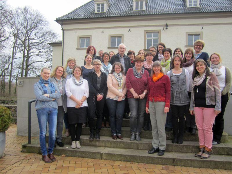 Die neuen Fachlehrkräfte für schulische Intervention bei Rechenstörungen. Foto: E. Hanfland – Kreis Unna