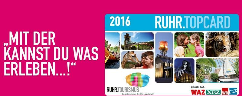 Ruhrtop Karte.Ruhrtop Card Gunstige Ausfluge Im Gesamten Ruhrgebiet