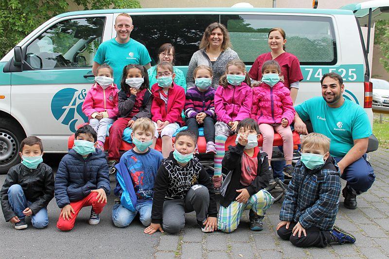 """Die Vorschulkinder des AWO-Familienzentrums """"Villa Kunterbunt"""" beschäftigt sich in den zurückliegenden Wochen mit dem Thema Erste Hilfe."""