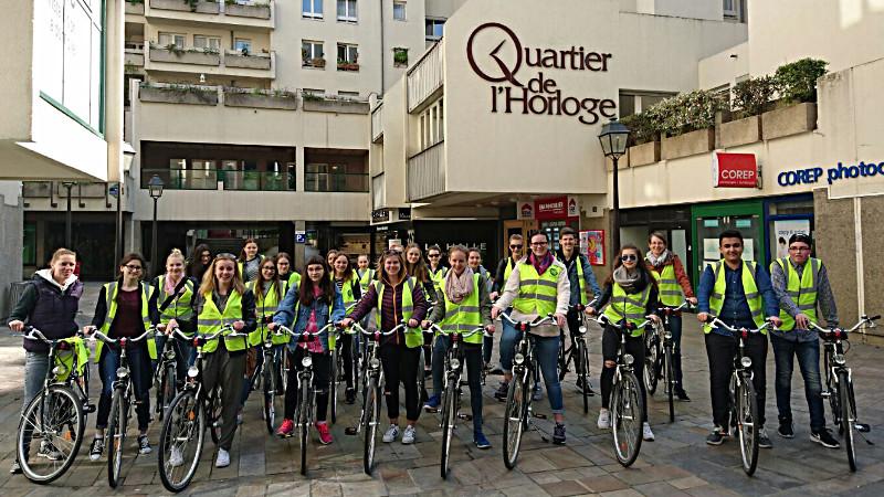 Fahrradtour der Paris-Fahrer.