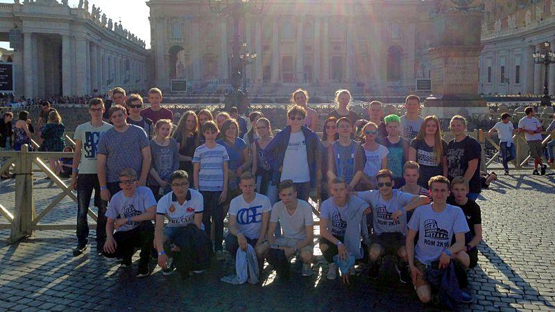 Gruppenbild der Romfahrer