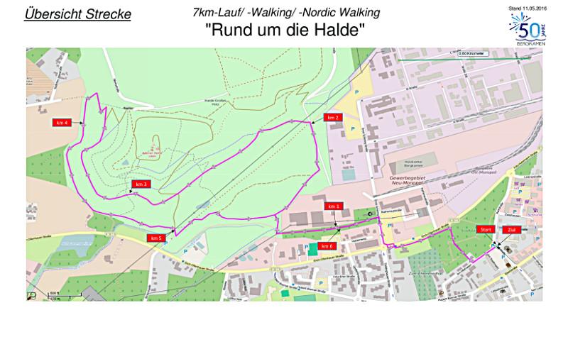Strecke Haldenlauf