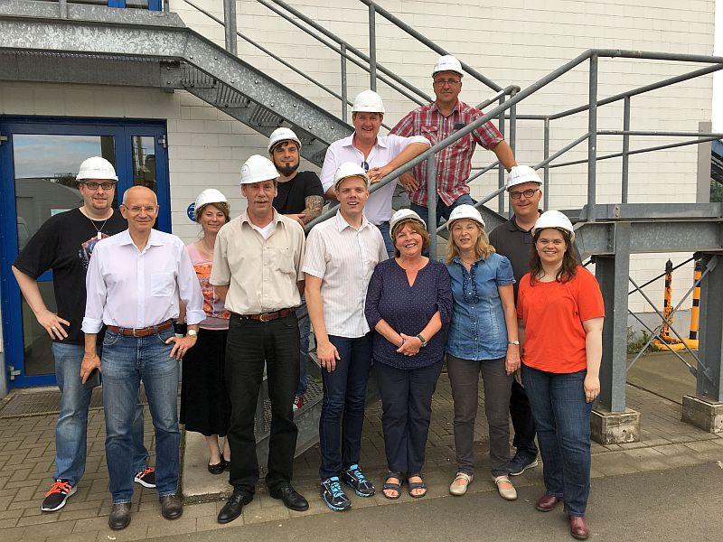 Der AfA-Stadtverband besichtigte das Bergkamener Biomassekraftwerk.