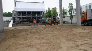 Sandstrand auf dem Stadtmarkt