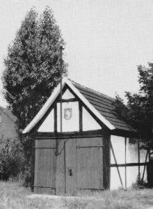 Erstes Weddinghofer Spritzenhaus. Es wurde 1965 abgebrochen.