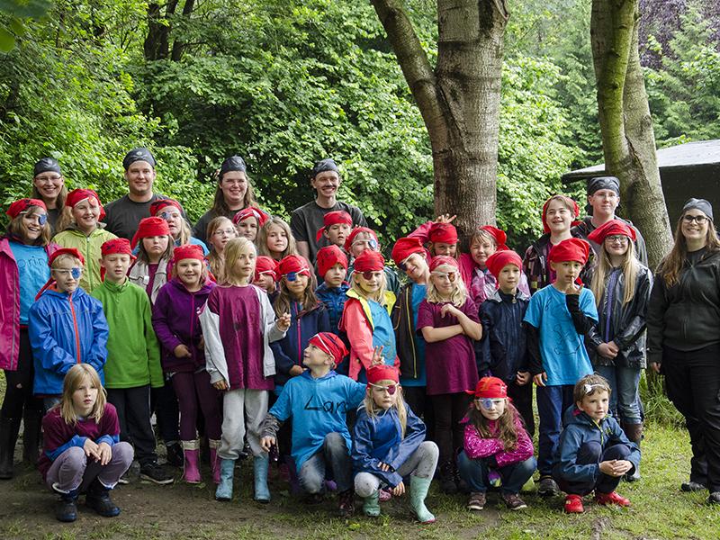 Eine starke Truppe: Die Piraten des 4. Kinderzeltlagers.