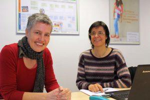 Ursula Hein und Stefanie Schmoll beraten rund um das Thema Anerkennungsverfahren.